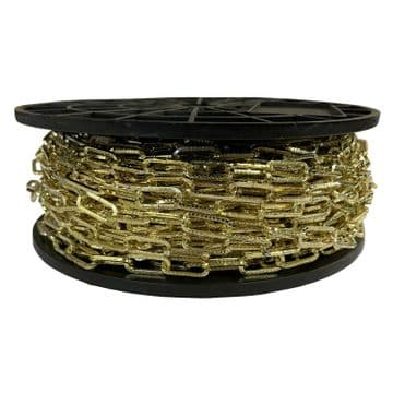 40 metres 2mm BRASS PLATED  DIMPLEX CHAIN hanging baskets pictures lights mirror